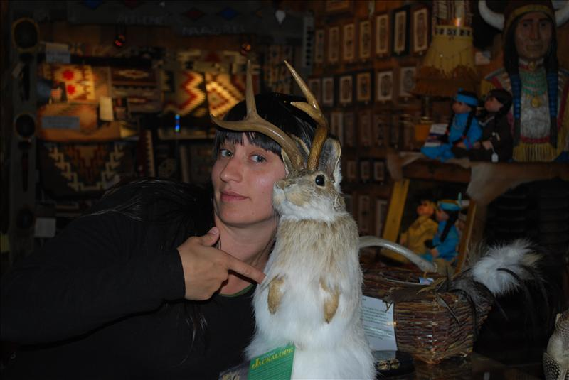 My big photo-op with the Jackalope