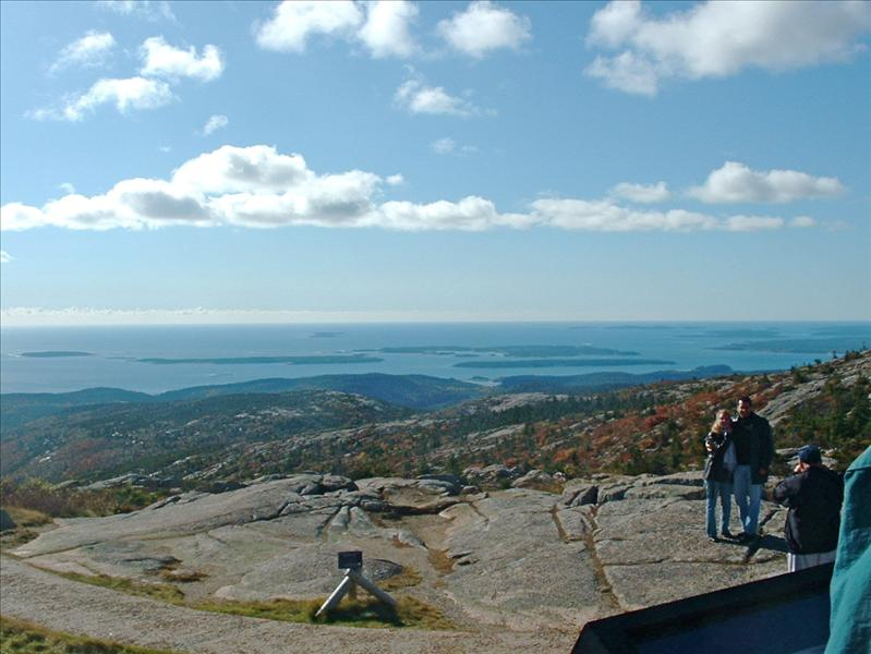 On top of Mt Dessert,Bar Harbor Tour