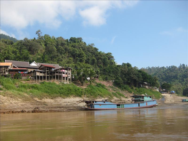 Pak Beng village on the Mekong