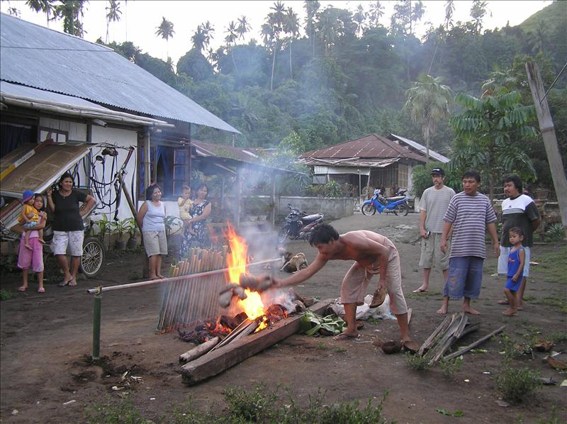 Traditional way of cooking