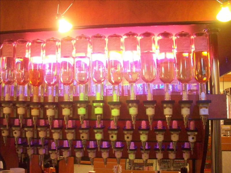 A perfume bar! Those are all perfumes and you pick the size container you want!