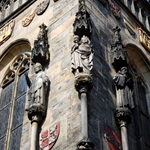 Statues on the tower