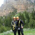 Ziplining Montana style :)