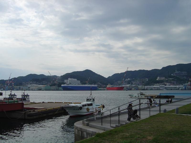 NAGASAKI sea-port and near-by area