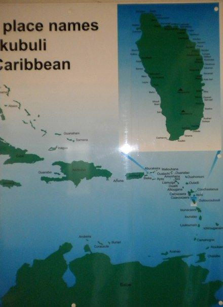Interesting Carib names could not be pronounced by Europeans - so they changed them all