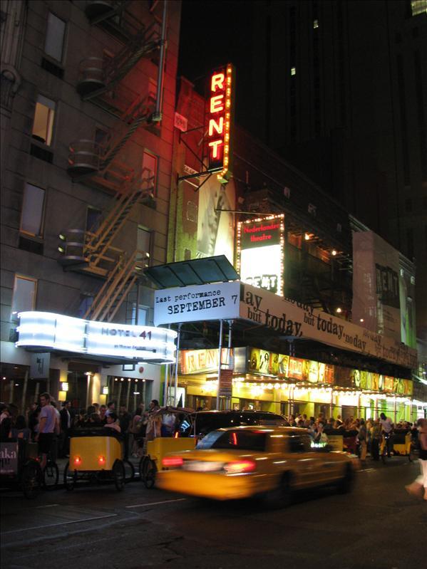 de show die we hebben gezien op Broadway...RENT!!