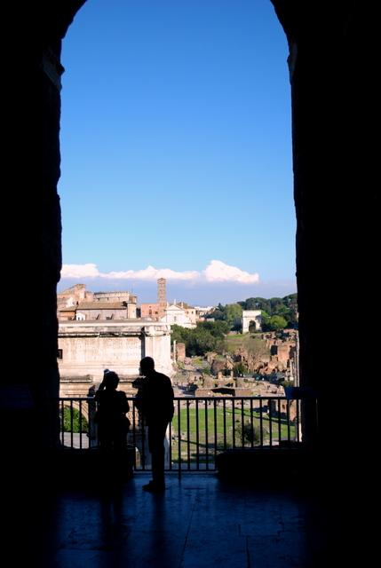 The Capitoline Museum has a terrace in the basement