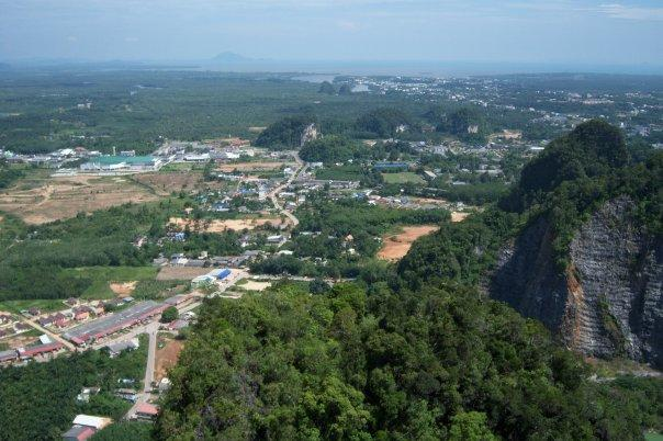 VIEW FROM THE HILL, WAT THAM SEUA (TIGER CAVE TEMPLE), KRABI. ANOTHER HOT AND SWEATY CLIMB
