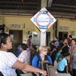 Arrival at Thivim railway station