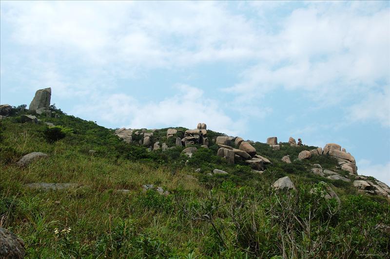 山上眾多怪石