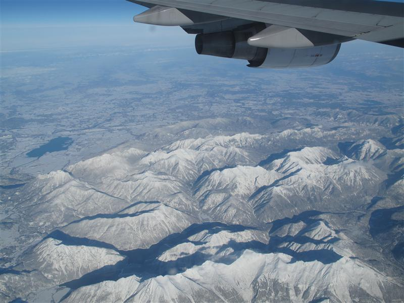Plane view mountains