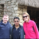 With our guide Santiago - looking very outdoorsy...