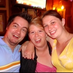 Rob, Claire, and me
