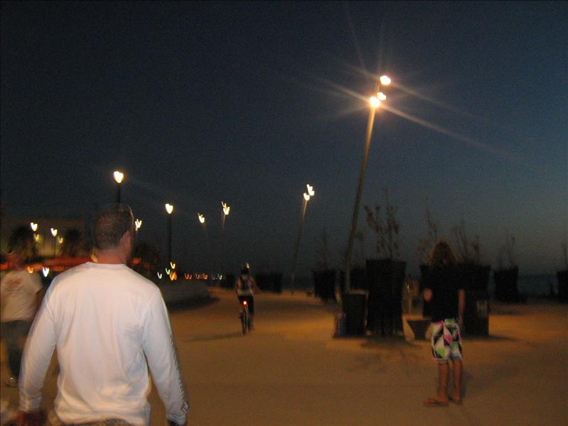 St Kilda Beach at Night