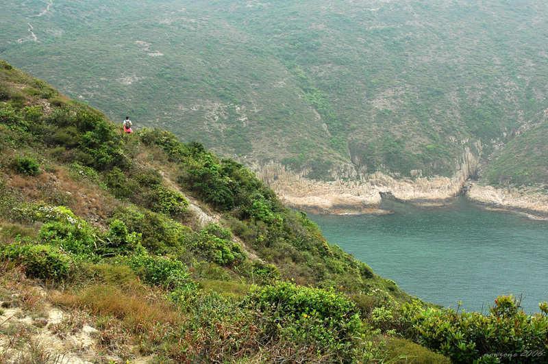 接近浪茄仔,有一段橫山路頗為陡峭