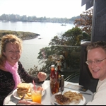 Lunch at Spinnakers overlooking inner harbour