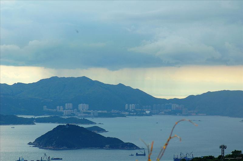 愉景灣一帶有過雲雨
