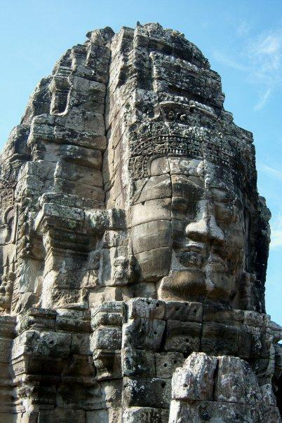ENIGMATIC FACE AT THE BAYON