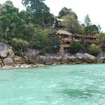 Arriving to the island of Koh Lipe, on a long tail boat...