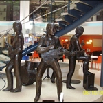The Beatles in Statue Form