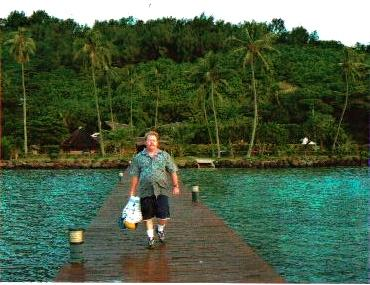 MARK ON PIER,IN FRONT OF BLOODY MARY'S,BORA BORA,COOK ISLANDS