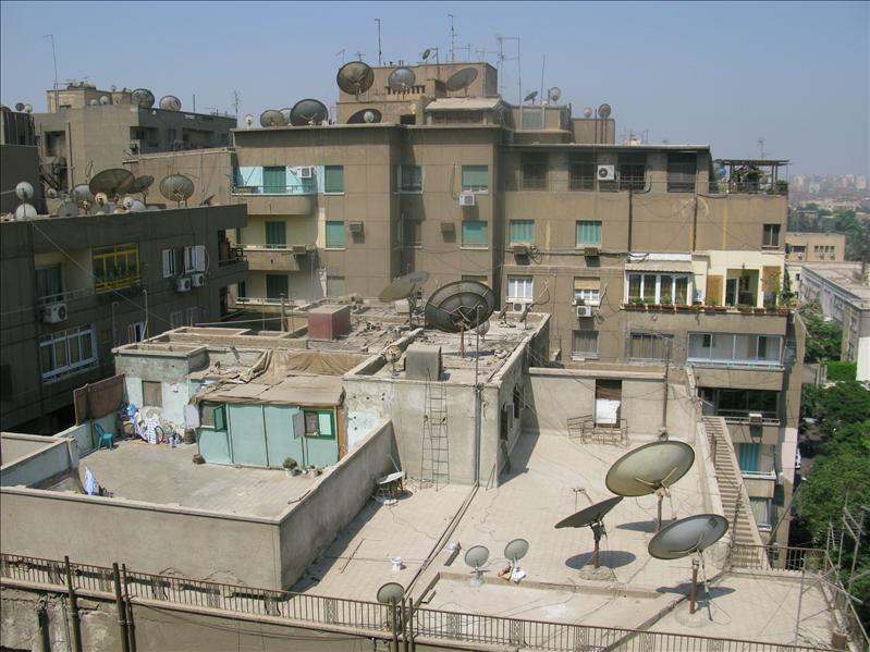 Cairo en zijn schotelantennes