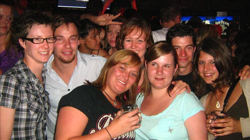 Me, Tobi, Sam, Nicki and Marco in Bojangles in Alice