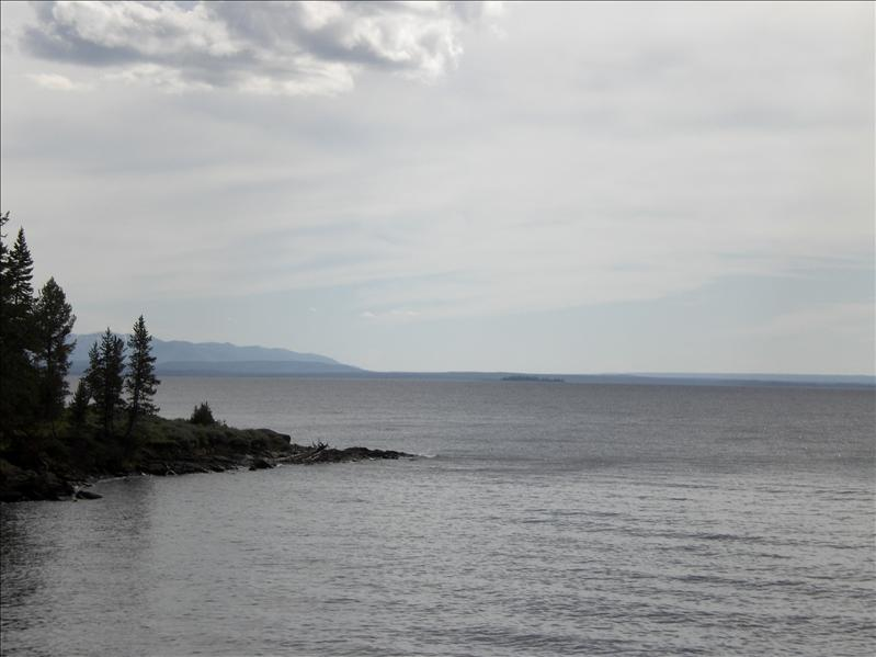 Yellowstone Lake. It's as big as a great lake.