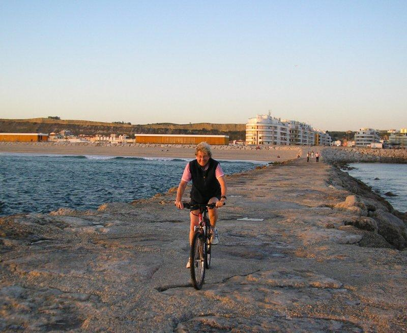 First night at Caparica we cycle by the sea.
