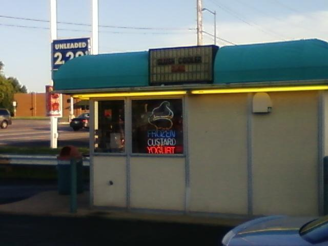 best bet is in the Frankie G's parking lot, a little ice cream stand