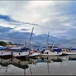 The boats at Ujung Pandang Harbour