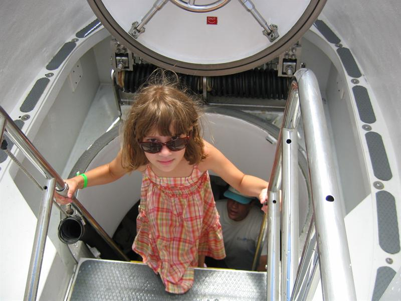 Entering the Submarine