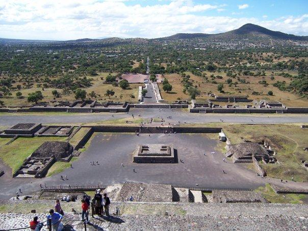 TEOTIHUACAN - VIEW FROM PYRAMID OF THE SUN