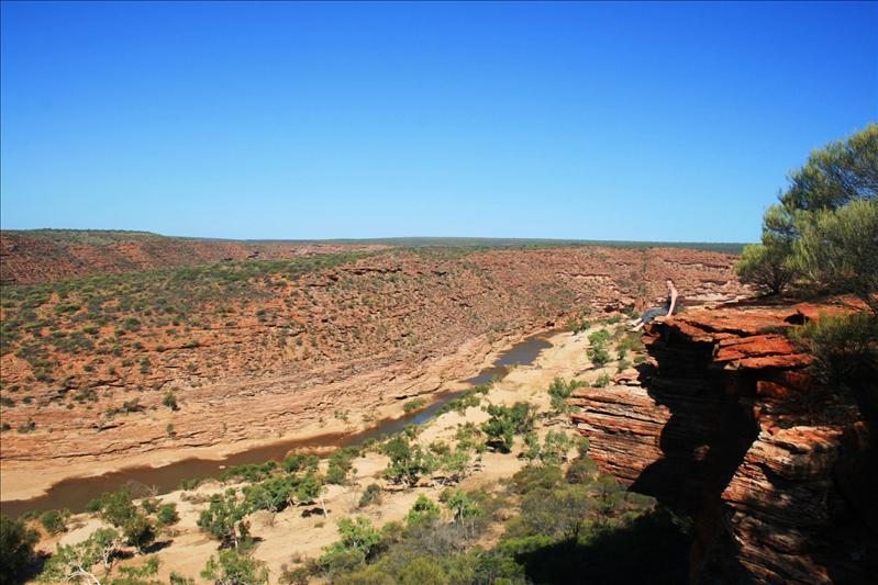 Enjoying the view in Kalbarri National Park.