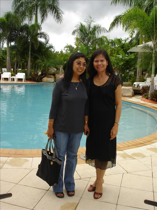 I and Elvie at Darwin Airport Resort