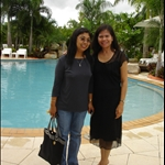 I and Elvie at Darwin Airport Resort