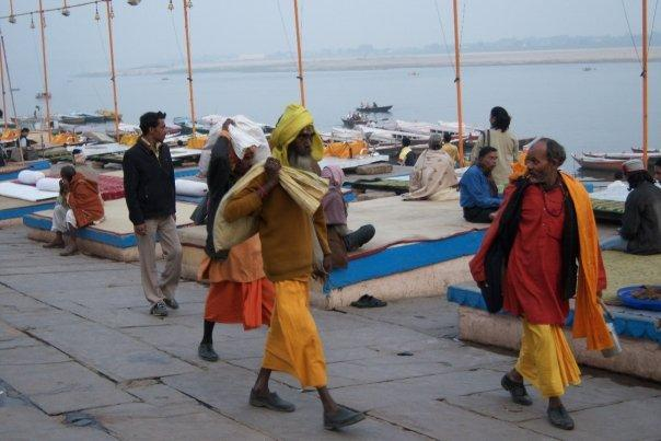 GOING FOR A WALK, VARANASI GHATS