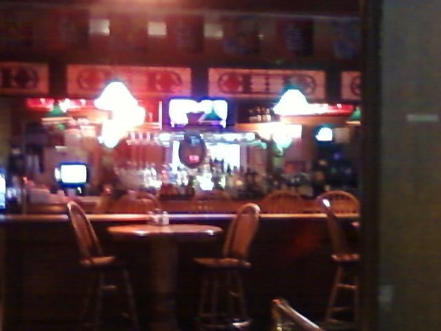 another view of the bar as leaving the restroom