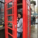 Red phone booth!