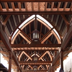 Beautiful woodwork on the canopy