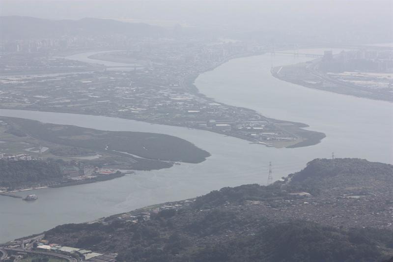 由硬漢嶺眺望社子島