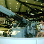 antiaircraft display in the museum