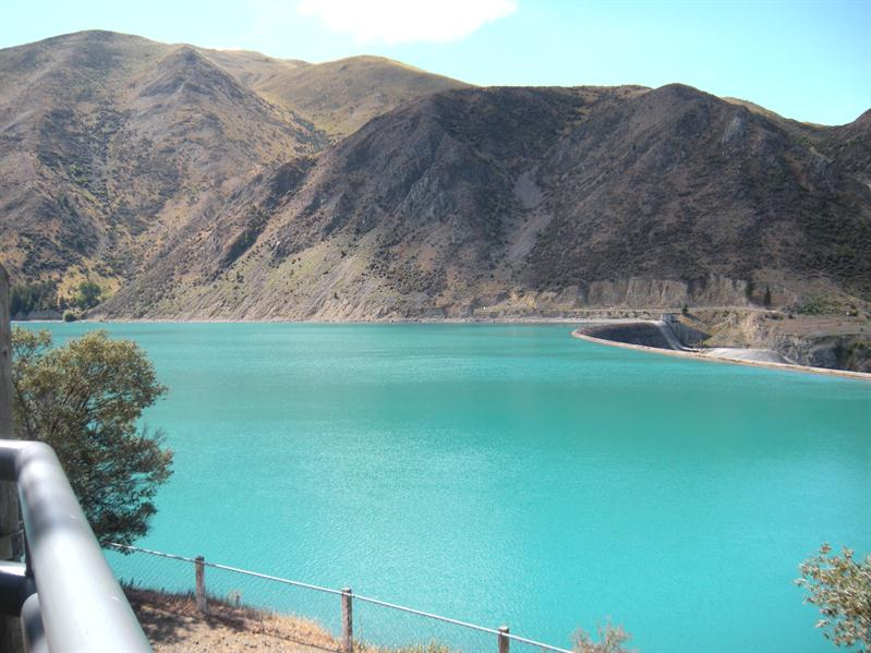 The beautiful bluey green colour the result of sediment from the glaciers. near Mount Cook