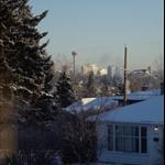 Blick vom Schlafzimmer Richtung Calgary DownTown