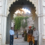 Castle Bijaipur welcome with flowers
