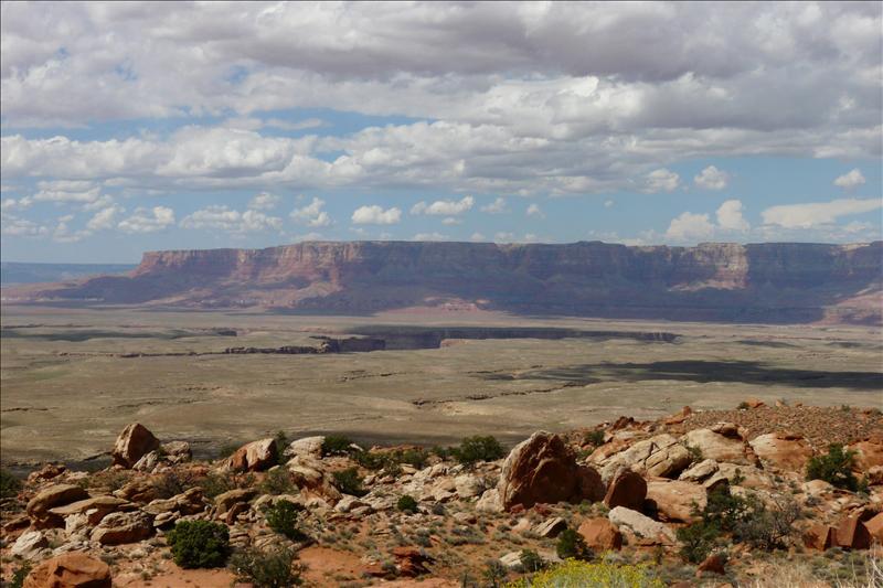 Op weg van Grand Canyon naar Monement Valley