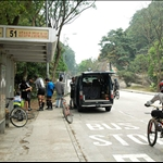 Starting at Tsuen Kam Au 荃灣地鐵站(A出口)上蓋大河道天橋乘搭51號巴士到荃錦坳下車