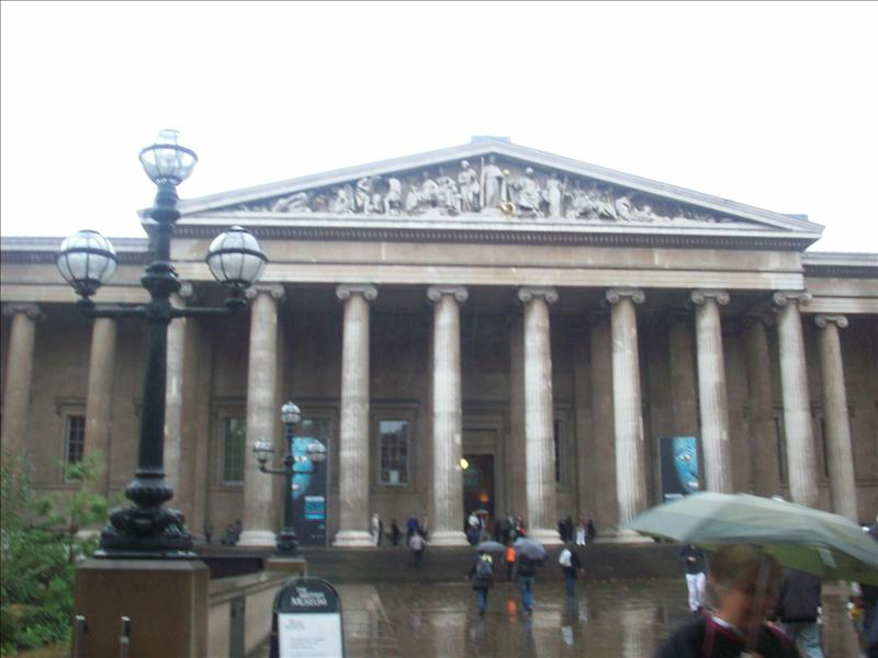 Entrance to the British Museum.