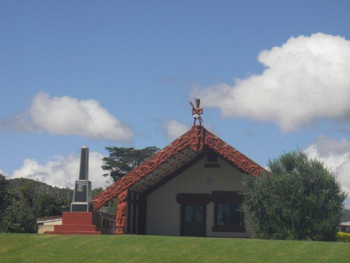 A marae - Maori meeting place - embracing the culture!