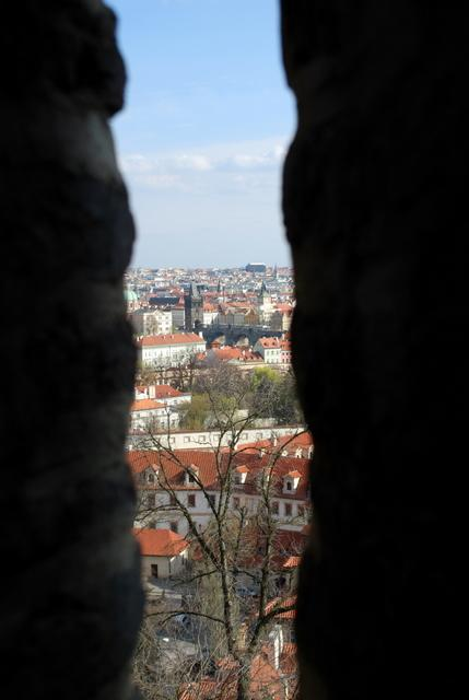 Through the gap to Charles Bridge
